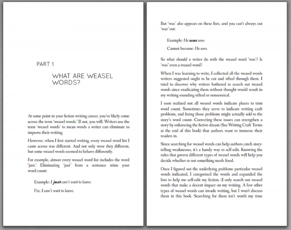 weasel word book 2 pages