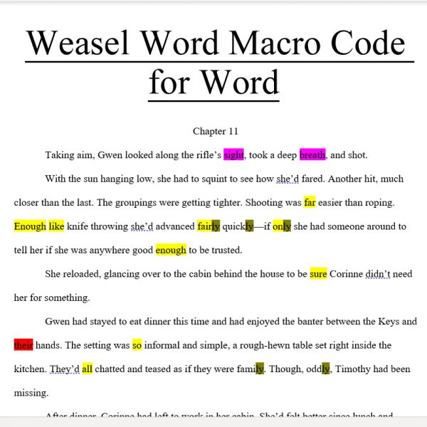 Weasel Word Word Macro